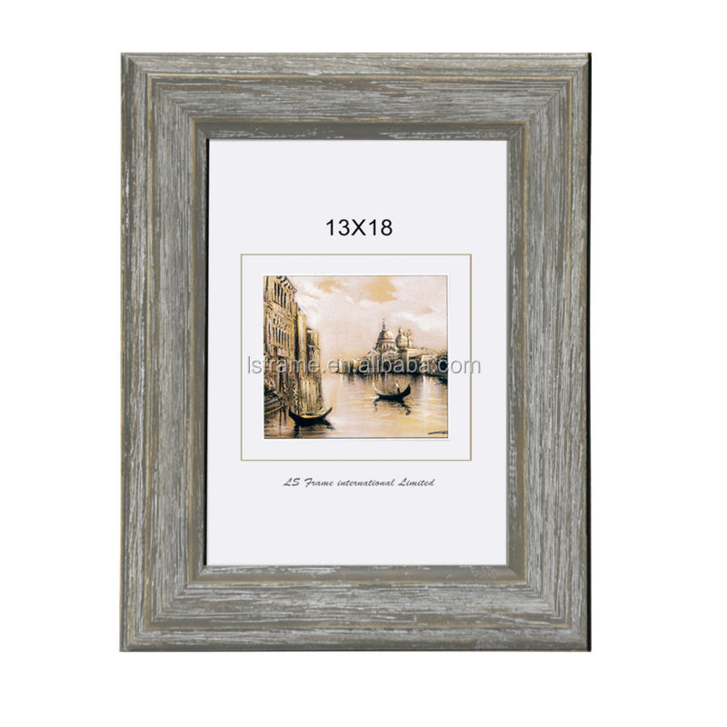 vintage rustic photo frame wood with antique effects
