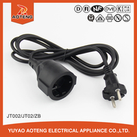 VDE 2 pin around H05VV-F 3X0.75MM2 european plug plastic 220V extension cord