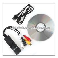1 Channel EASY CAP USB 2.0 Capture Adapter Audio Video TV VHS DVDsupport Windows Xp,windows7/Vista 32