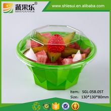 Disposable plastic PET fruit cut salad packing containers wholesale