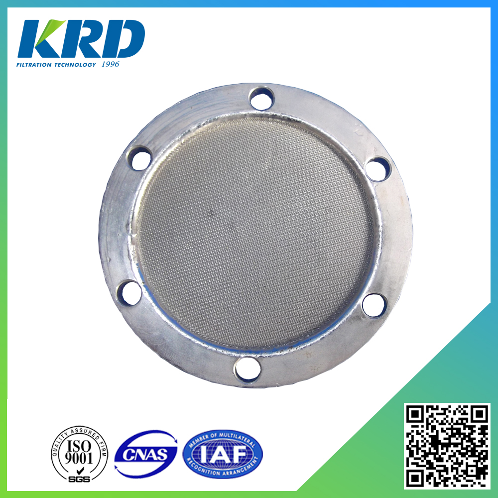 Cutting Flat Stainless Steel Round Shape Sintered Porous Disc Filter