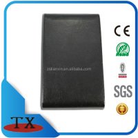black leather id card holder case