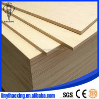 1220x2440mm Cabinet D/E Grade Birch Plywood Sheets to USA from Linyi factory