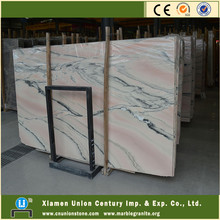 Italy white pink vein marble