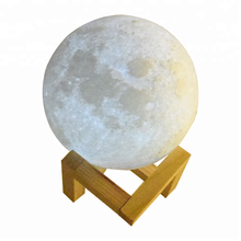 15CM 3d print electric luna moon shaped led night light lamp