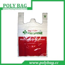 brand name printed plastic bag with t-shirt type