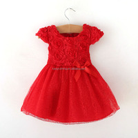 Wholesale red lace boutique little girls princess skirt high quality boutique girls clothes