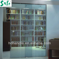 Double panel sliding glass door system for office hotel house