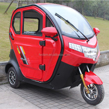 New design electric 3 wheel closed tricycle for passenger