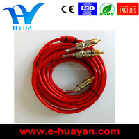 HIGH QUALITY TRANSPARENT RCA CABLE,ACCESSORIES CARS