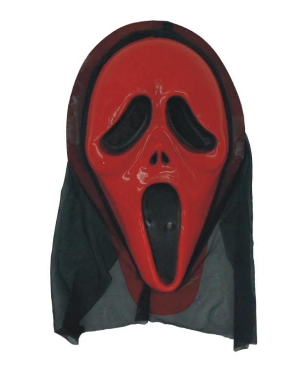 Plastic Halloween Scary Ghost Party Mask