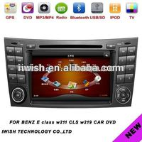 car accessories dubai for BENZ E class w211/CLS w219 with analog tv bluetooth AM/FM radio RDS