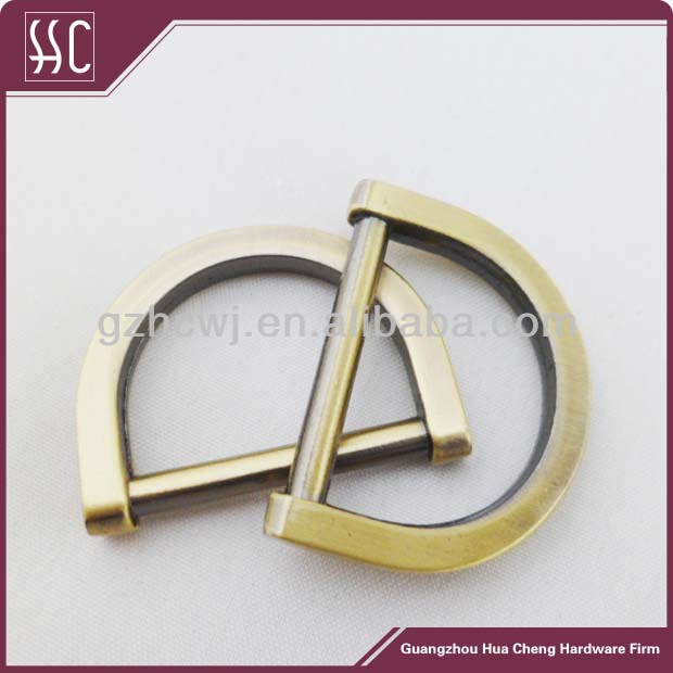 20mm high end anti brass metal bag D ring,handbag ring