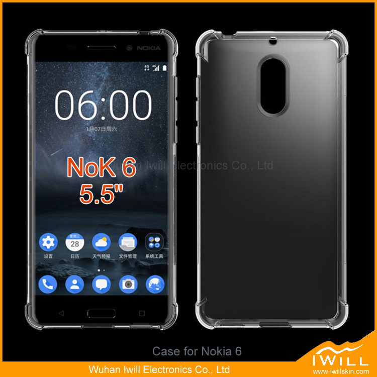 For Nokia 6 tpu case, shockproof gel case cover for nokia 6 mobile phone
