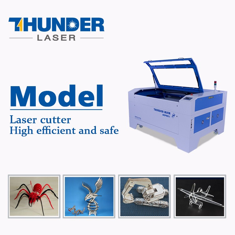2016 most popula dual laser head architectural model laser cutting machine for wood plastic plywood
