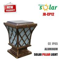 Black and white Solar Powered Led Garden Post Deck Cap Square Pathway Outdoor Fence Lights