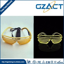 Glow in dark shutter shades funny party eye glasses