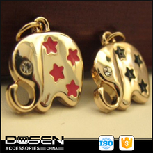 Elephant shape with spray -paint for metal zipper pendants for handbags and cloths zamak meterial make in china .