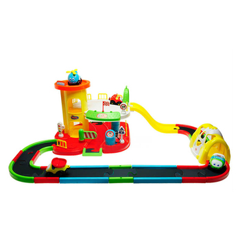 tra-11896074 track parking lot Cartoon track parking lot toys set for kids