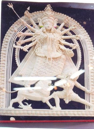 Goddess Durga - Indian deity - sculpture on thermocol sheet