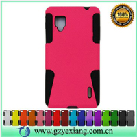 Factory price mesh combo back case for LG Optimus G E975 phone cover