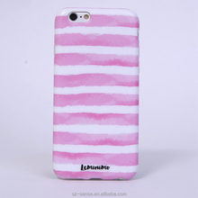 Best selling products light pink stripe custom tpu case for iphone 6