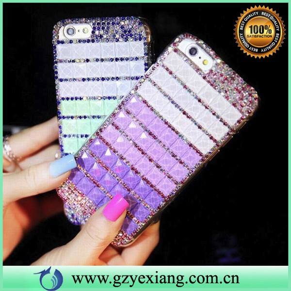 new fashion bling diamond colorful crystal hard case for lg k8 k7 k5 k10 back cover