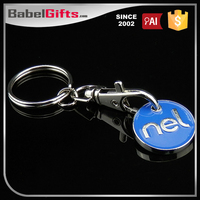 Custom metal trolley coin keyring
