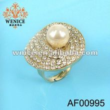 ali express crystal stud gold ring