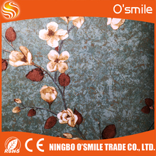 Latest Flower PVC wallpaper, embossed fashion design 3D wallpaper, non-woven wallpapers