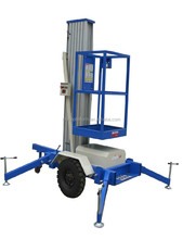 best used hydraulic mast aluminum man lift for indoor cleaning