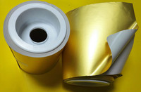 hot melt gold foil self adhesive paper for label printing