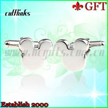 2013 New and quality products!Funny and cute silver Metal wedding cufflinks/blank cufflinks for wholesale