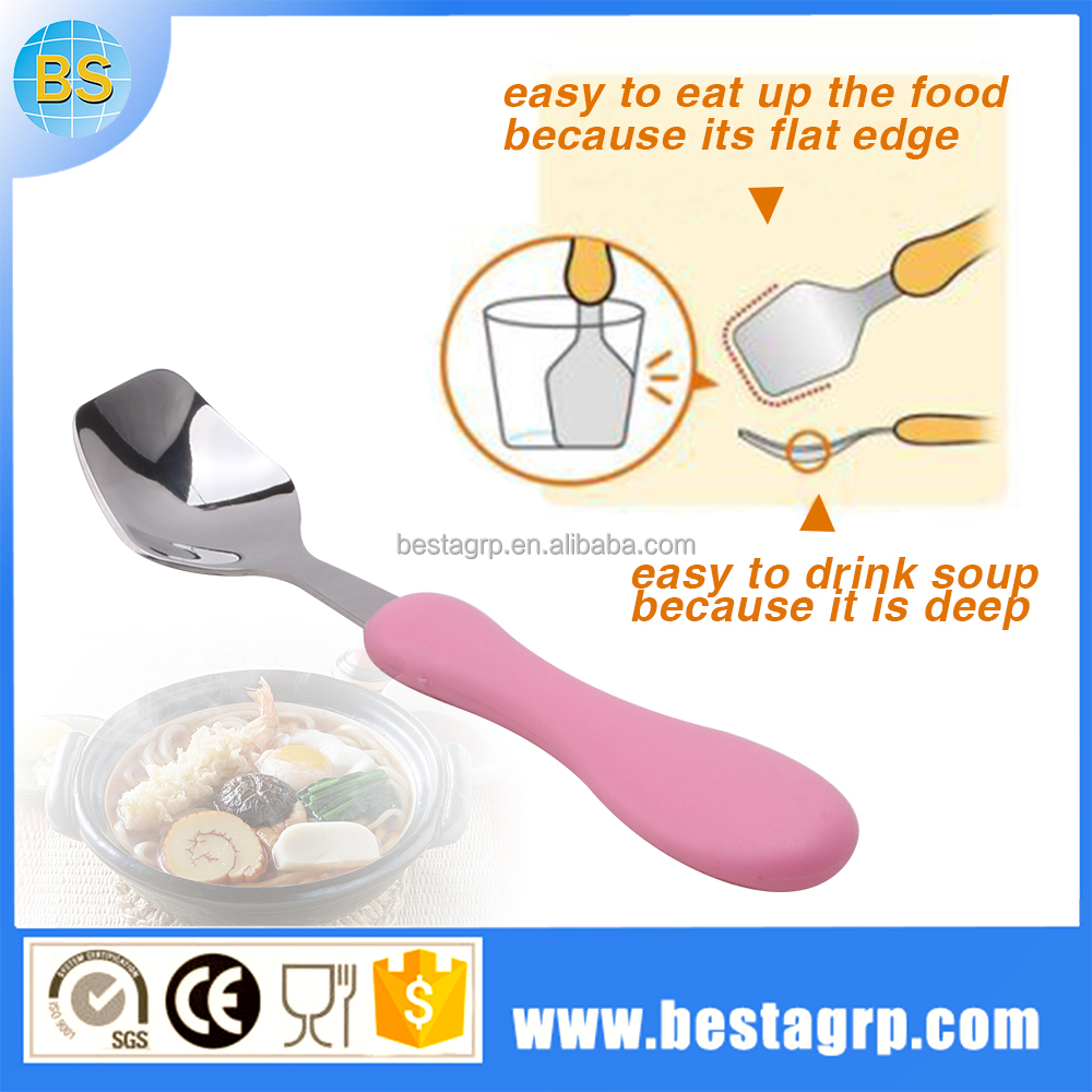 SGS LFGB Japan hot selling metal baby spoon