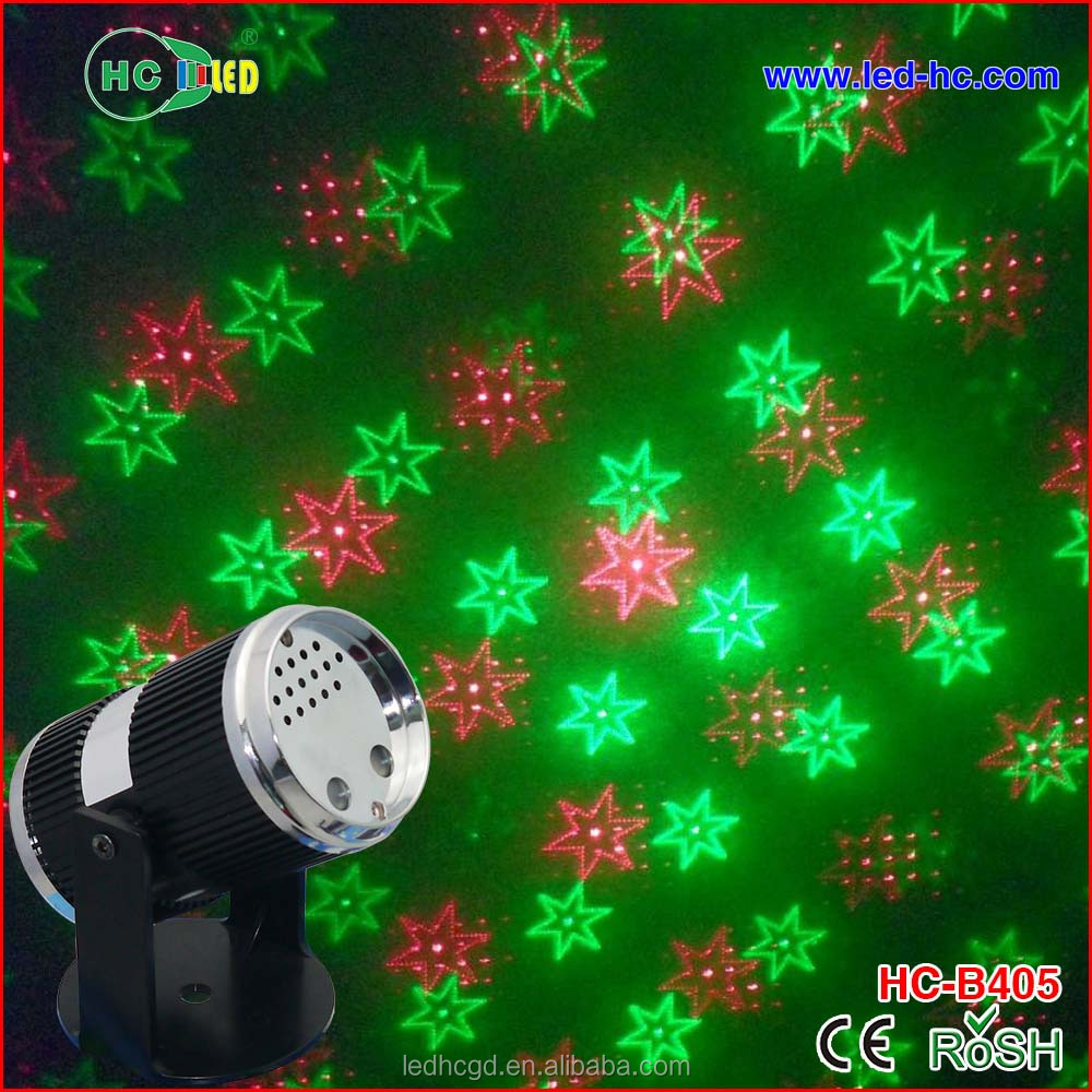 Sound control Grid Laser Stage lighting Projector Mini dance laser red and green lighting wholesale price
