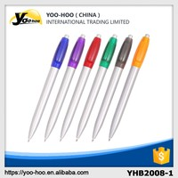 China supplier promotional plastic ball pen assorted color for office