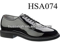 hot sale western popular high shiny formal wedding dress shoes in black