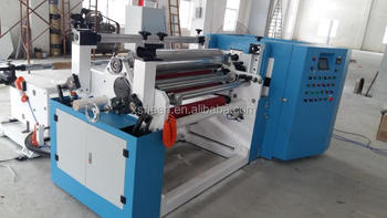 slitting machine is suitable for slitting and rewinding such various roll material as PE, BOPP, PET, CPP, CPE, PVC