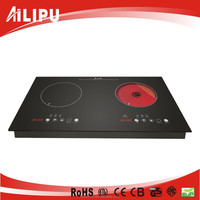 4000watt Dual Burners Electric Cooking Top/Induction Ceramic Hob/Induction Cooker With Infared Cooker DIC09A