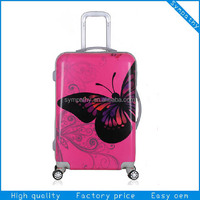Beautiful PC ABS children travel trolley luggage bag