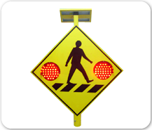 Solar Powered Crossing Sign
