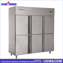 commercial stainless steel restaurant fridge 6 door upright freezer with lock