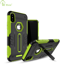 2017 Mobile Phone Hybrid Armor Rugged Back Case For iPhone X With Folding Kickstand Function