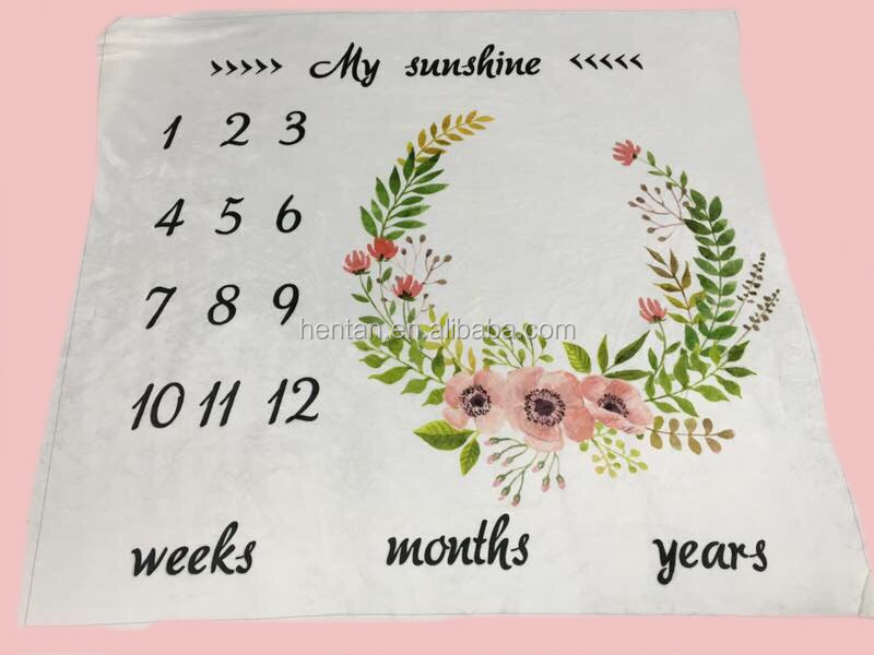 New Baby Gift monthly update milestone blanket