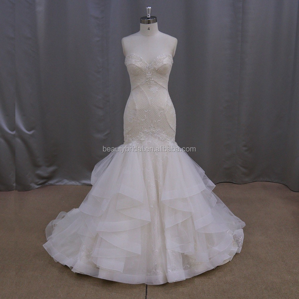 Mermaid Sleeveless Designer Bridal Gown 2016 Patterns ...