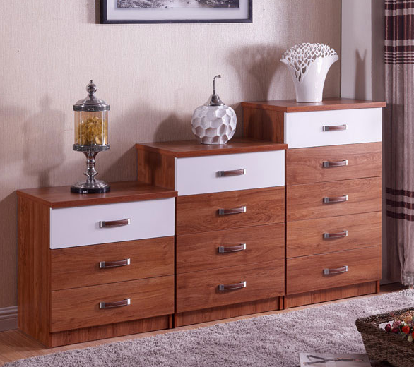 wooden mdf furniture chest of drawer cabinet
