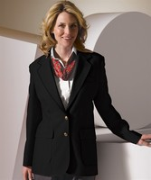 Hotel Front Desk Uniforms Office Uniform Designs for Women Blazer Front Office Uniforms Single Breasted Poly Blazer WS683