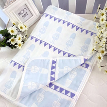 popular muslin fabric baby swaddle washed blanket