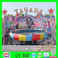 outdoor family thrill game rotating turntable tagada disco rides for kids