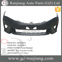 New Items!!! Middle East abs plastic auto front bumper for Toyota Corolla 2014 body kits